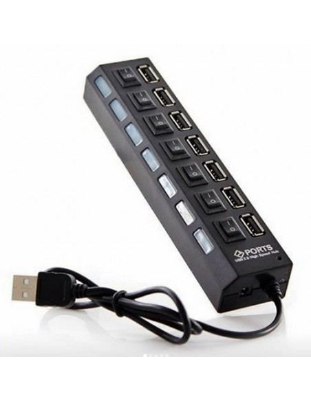Alargador USB / 7 Puertos