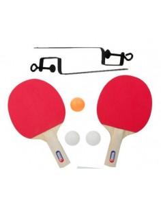 Set Ping Pong Paletas Pelotas y Soporte Red Ping Pong