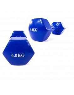 Mancuernas de vinilo 6 Kg cada una, 12 Kg el par