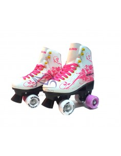 Patines DRB Pop 4 Ruedas Blanco