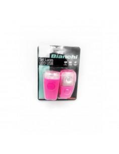 Luces Led Recargable USB de Bicicleta Bianchi