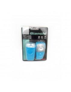 Luces Recargable USB de Bicicleta Bianchi