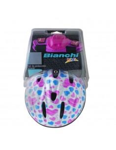 Casco + Protecciones Bianchi Niña