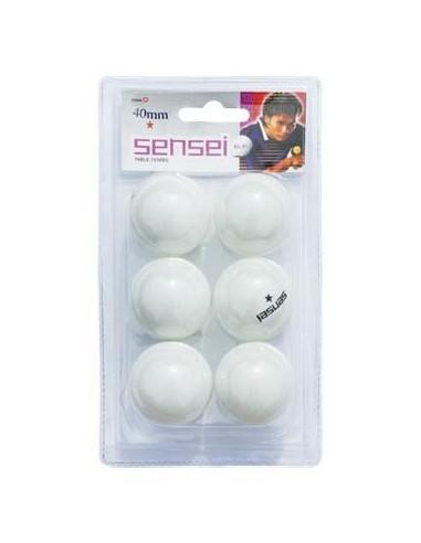 Pack de 6 pelotas Ping Ping Sensei 1 estrella