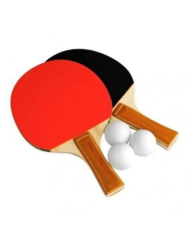 Set 2 Paletas + 3 Pelotas de Ping Pong